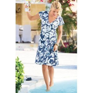 Soft Surroundings Shapely Anywhere Wrap Dress S